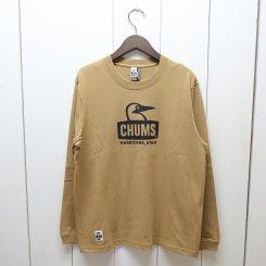 チャムス/CHUMS/Booby Face L/S T-Shirt/Beige