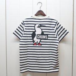 チャムス/CHUMS/CHUMS Logo T-Shirt/White × Navy