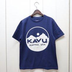 カブー/KAVU/Circle Logo Tee/Navy
