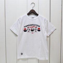 チャムス/CHUMS/東北別注/CHUMS × OM HWYC T-shirt/White