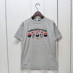 チャムス/CHUMS/東北別注/CHUMS × OM HWYC T-shirt/H.Gray