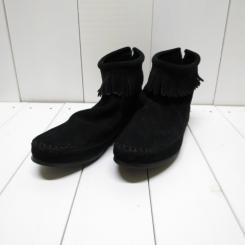 ミネトンカ/MINNE TONKA /BACK ZIPPER BOOT/ブラック