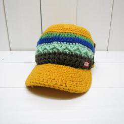チャムス/CHUMS/Border Work Knit Cap/Yellow Multi