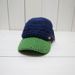 チャムス/CHUMS/Work Knit Cap/Brown/Purple・Green