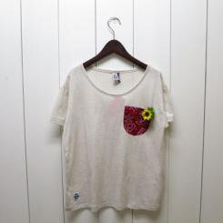 チャムス/CHUMS/CHACO Bandana Pocket T/H・Narutal×Red
