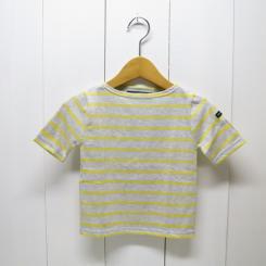 SAINT JAMES/セントジェームス ピリアック GRIS CL/SOLEIL 霜降りベールグレー×黄色