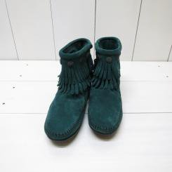 ミネトンカ/MINNT TONKA/DOUBLE FRINGE SIDE ZIP BOOT/Pine Suede