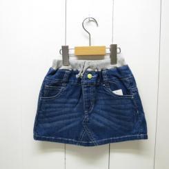 Lee ×stompstamp/リブ付きデニムミニスカート/ブルー110cm