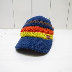 チャムス/CHUMS/Heather Border Work Knit Cap/Navy×Multi