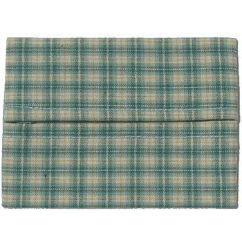 ポケットティッシュカバー 子供サイズ チェック・緑
