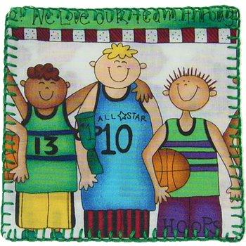 コースター USAコットン  バスケットボール