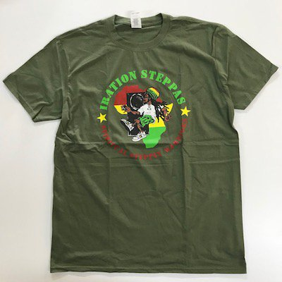 IRATION STEPPAS オフィシャルTシャツ [Military Green]