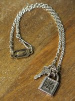 ROAD-PADLOCK IRONCROSS CANVAS LIMITED vr.&ANTIQUE KEY TOP(Silver) & Alliance Chains SET(CH/D)