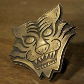 ROAD - TIGER BUCKLE(BRASS)
