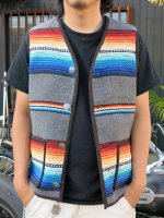 BAD QUENTIN - MEXICAN RAG VEST(GRAY)