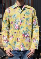 <img class='new_mark_img1' src='//img.shop-pro.jp/img/new/icons50.gif' style='border:none;display:inline;margin:0px;padding:0px;width:auto;' />CLUCT - ORIGINAL ALOHA PATTERN L/S SHIRT (YELLOW)