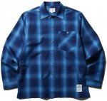 <img class='new_mark_img1' src='//img.shop-pro.jp/img/new/icons50.gif' style='border:none;display:inline;margin:0px;padding:0px;width:auto;' />CLUCT - L/S SHADOW PLAID SHIRT (NAVY)