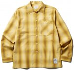 <img class='new_mark_img1' src='//img.shop-pro.jp/img/new/icons50.gif' style='border:none;display:inline;margin:0px;padding:0px;width:auto;' />CLUCT - L/S SHADOW PLAID SHIRT (CAMEL)
