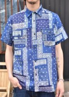 <img class='new_mark_img1' src='//img.shop-pro.jp/img/new/icons50.gif' style='border:none;display:inline;margin:0px;padding:0px;width:auto;' />CLUCT -  S/S BANDANA SHIRT (NAVY)