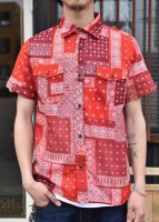 CLUCT -  S/S BANDANA SHIRT (RED)