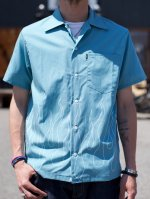 <img class='new_mark_img1' src='//img.shop-pro.jp/img/new/icons50.gif' style='border:none;display:inline;margin:0px;padding:0px;width:auto;' />CLUCT -  S/S FIRE FLAME SHIRT (BLUEGREEN)
