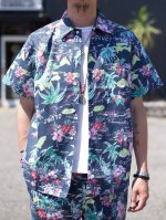 CLUCT -  ORIGINAL ALOHA PATTERN S/S SHIRT (BLACK)