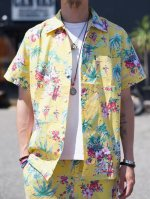 <img class='new_mark_img1' src='//img.shop-pro.jp/img/new/icons50.gif' style='border:none;display:inline;margin:0px;padding:0px;width:auto;' />CLUCT -  ORIGINAL ALOHA PATTERN S/S SHIRT (YELLOW)