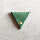 CANVAS - LEATHER COIN CASE(GREEN)