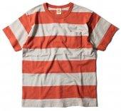 TROPHY CLOTHING - WIDE BORDER S/S TEE (COGNAC)