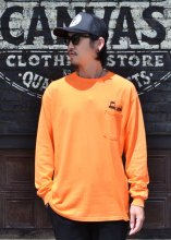 CycleZombies / サイクルゾンビーズ DOT Pocket L/S T-SHIRT (ORANGE)