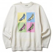 SOFTMACHINE / VELVETS SWEAT (WHITE)