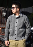 TROPHY CLOTHING - SALT&PEPPER BUTTON SWEAT JACKET (GRAY MIX)