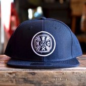 HWZN x WHEELIES x CANVAS - HWC CROSS LOGO SNAP CAP (BLACK)