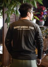 TROPHY CLOTHING - GENERAL LOGO OD L/S TEE (GUN BLACK)