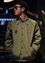 EVILACT x CANVAS - W NAME NYLON COACH JACKET (OLIVE) RENEWAL Limited
