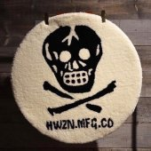 HWZN.MFG.CO. - X-BONE SKULL RUG MAT (WHITE)