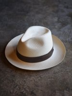 <img class='new_mark_img1' src='https://img.shop-pro.jp/img/new/icons50.gif' style='border:none;display:inline;margin:0px;padding:0px;width:auto;' />STEVENSON OVERALL Co. / STETSON × SOC Panama Fedora Hat  (WHITE)