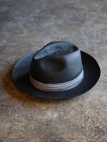<img class='new_mark_img1' src='https://img.shop-pro.jp/img/new/icons50.gif' style='border:none;display:inline;margin:0px;padding:0px;width:auto;' />STEVENSON OVERALL Co. / STETSON × SOC Panama Fedora Hat  (BLACK)