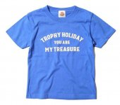 "TROPHY CLOTHING - ""HOLIDAY"" TREASURE LOGO TEE(KIDS SIZE)(子供服)(BLUE)"