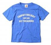 "TROPHY CLOTHING - ""HOLIDAY"" TREASURE LOGO TEE(KIDS SIZE)(子供服)(BLUE)"