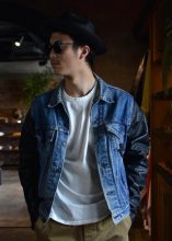 <img class='new_mark_img1' src='https://img.shop-pro.jp/img/new/icons1.gif' style='border:none;display:inline;margin:0px;padding:0px;width:auto;' />IrregulaR by Zip Stevenson / USA Levi's jacket with vintage leather sleeve ( XXL / Type C )