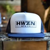 HWZN.MFG.CO. - BOX LOGO MESH CAP (NAVY / WHITE)