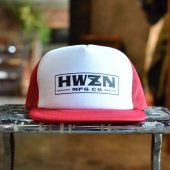 HWZN.MFG.CO. - BOX LOGO MESH CAP (RED / WHITE)