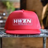 HWZN.MFG.CO. - BOX LOGO MESH CAP (RED)