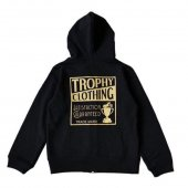 """<img class='new_mark_img1' src='https://img.shop-pro.jp/img/new/icons1.gif' style='border:none;display:inline;margin:0px;padding:0px;width:auto;' />TROPHY CLOTHING - """"HOLIDAY"""" BOX LOGO ZIP HOODIE(KIDS SIZE)(子供服)(BLACK)"""