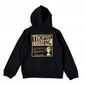 "TROPHY CLOTHING - ""HOLIDAY"" BOX LOGO ZIP HOODIE(KIDS SIZE)(子供服)(BLACK)"
