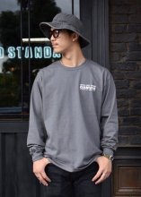 CANVAS - W.G.T LOGO L/S TEE (CHARCOAL)