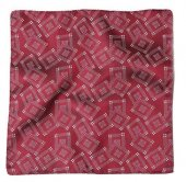 <img class='new_mark_img1' src='https://img.shop-pro.jp/img/new/icons50.gif' style='border:none;display:inline;margin:0px;padding:0px;width:auto;' />TROPHY CLOTHING - SILK JACQUARD POCKET SQUARE (Burgundy)
