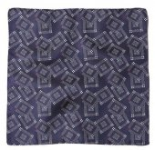 TROPHY CLOTHING - SILK JACQUARD POCKET SQUARE (Navy)