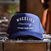 WHEELIES / LOGO MESH CAP (NAVY)